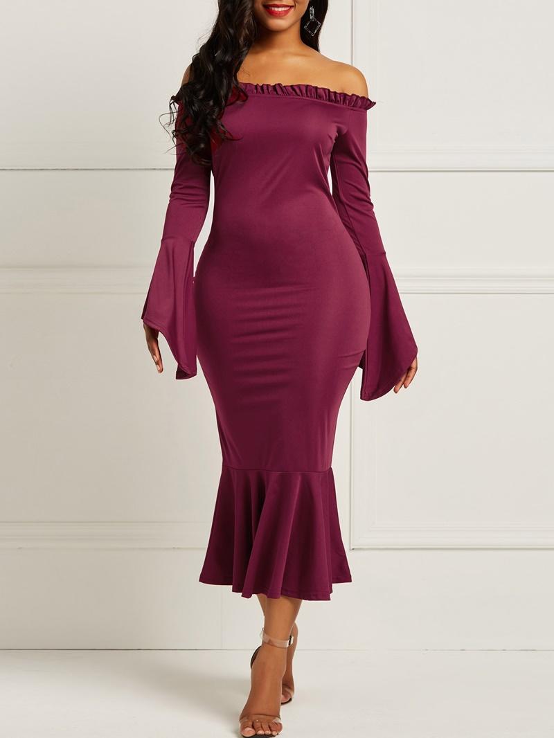 Ericdress Long Flare Sleeves Mermaid Women's Dress