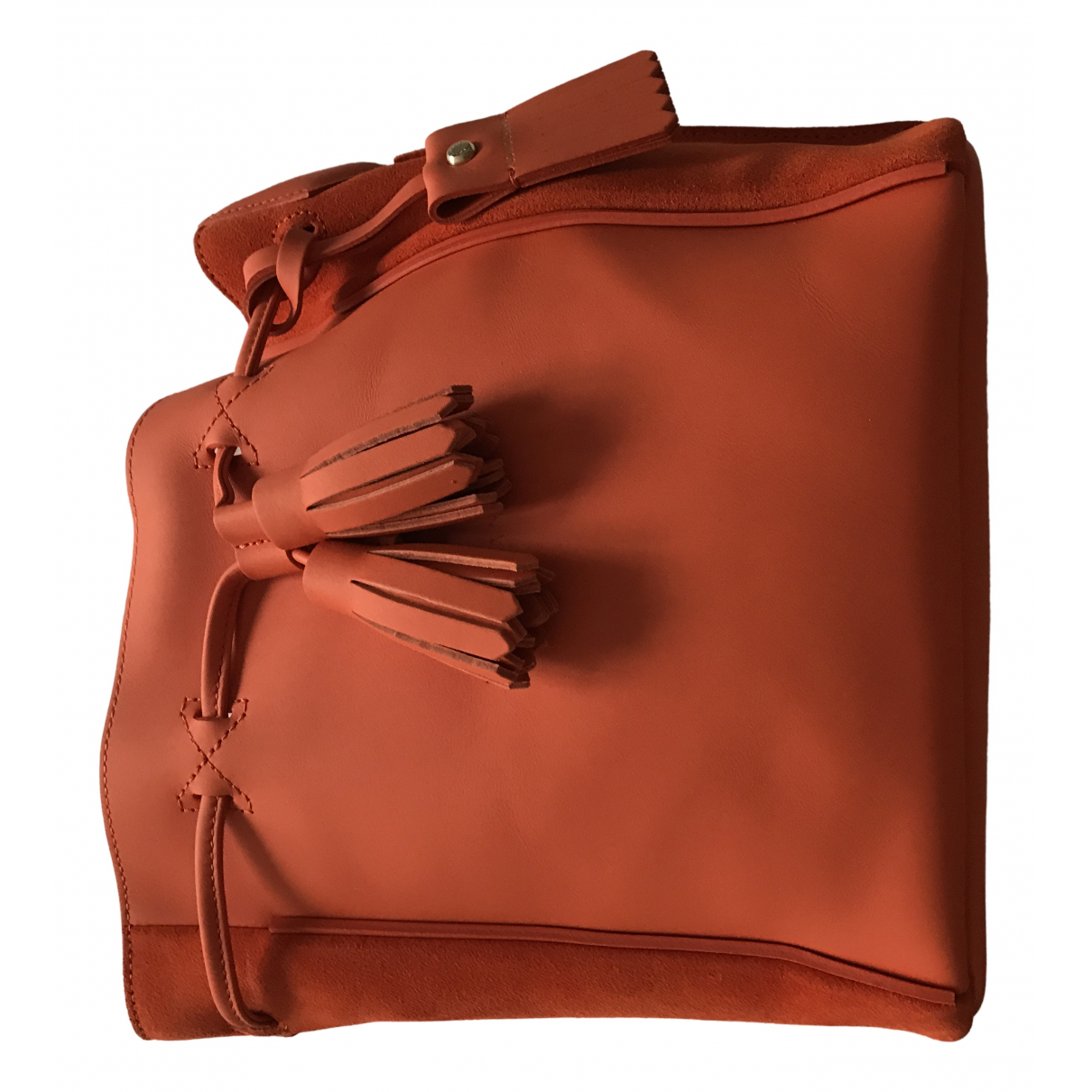Longchamp Penelope  Orange Leather handbag for Women \N