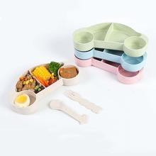 3pcs Kids Car Shaped Random Bowl & Cutlery Set