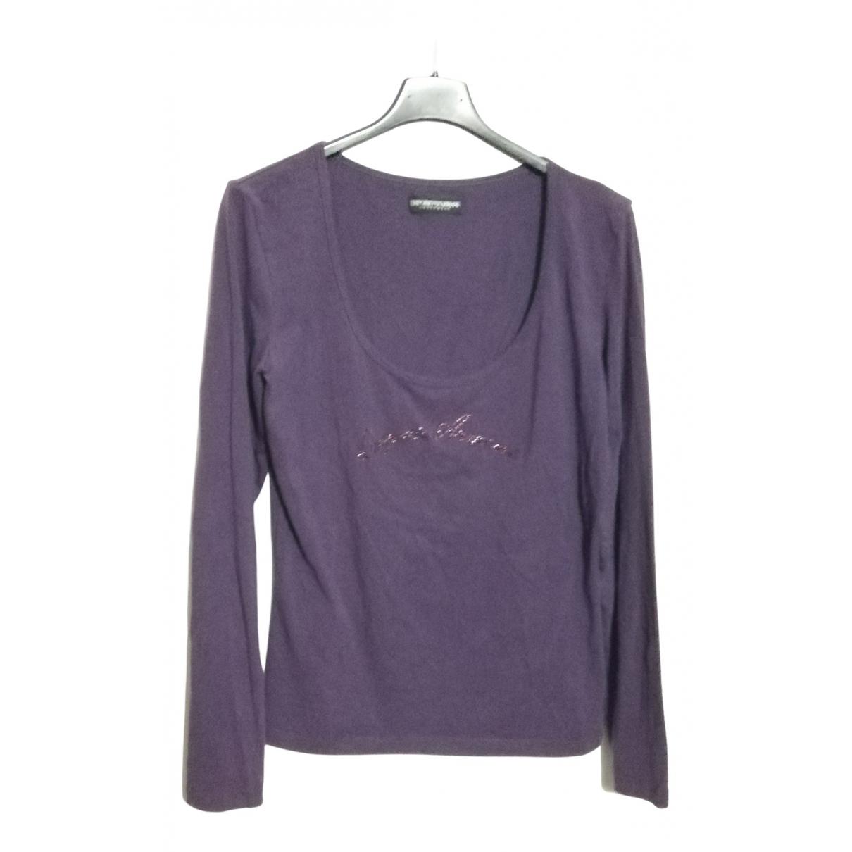 Emporio Armani - Top   pour femme en coton - violet