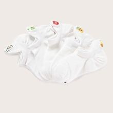 5pairs Girls Fruit Pattern Socks