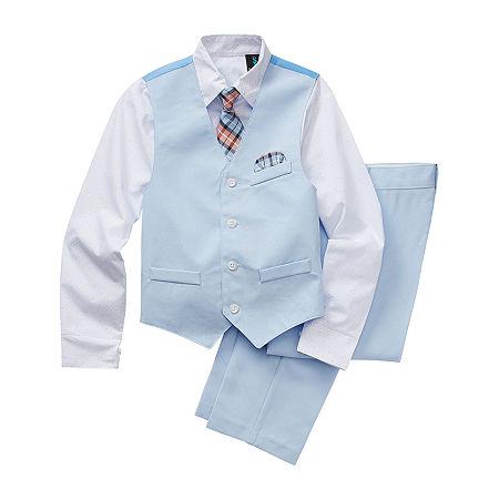 Steve Harvey Little & Big Boys 4-pc. Suit Set, 12 , Blue