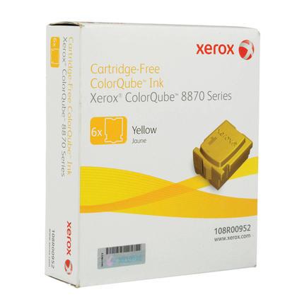 Xerox 108R00952 bâtons d'encre solide original yellow pour ColorQube 8870/8880 - 6 bâtons/paquet