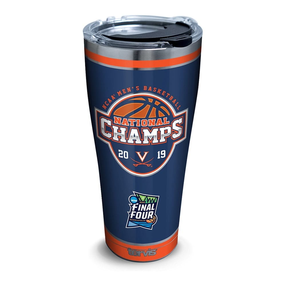 NCAA Virginia Cavaliers 2019 NCAA Basketball Champions 30 oz Stainless Steel Tumbler with lid (Silver)