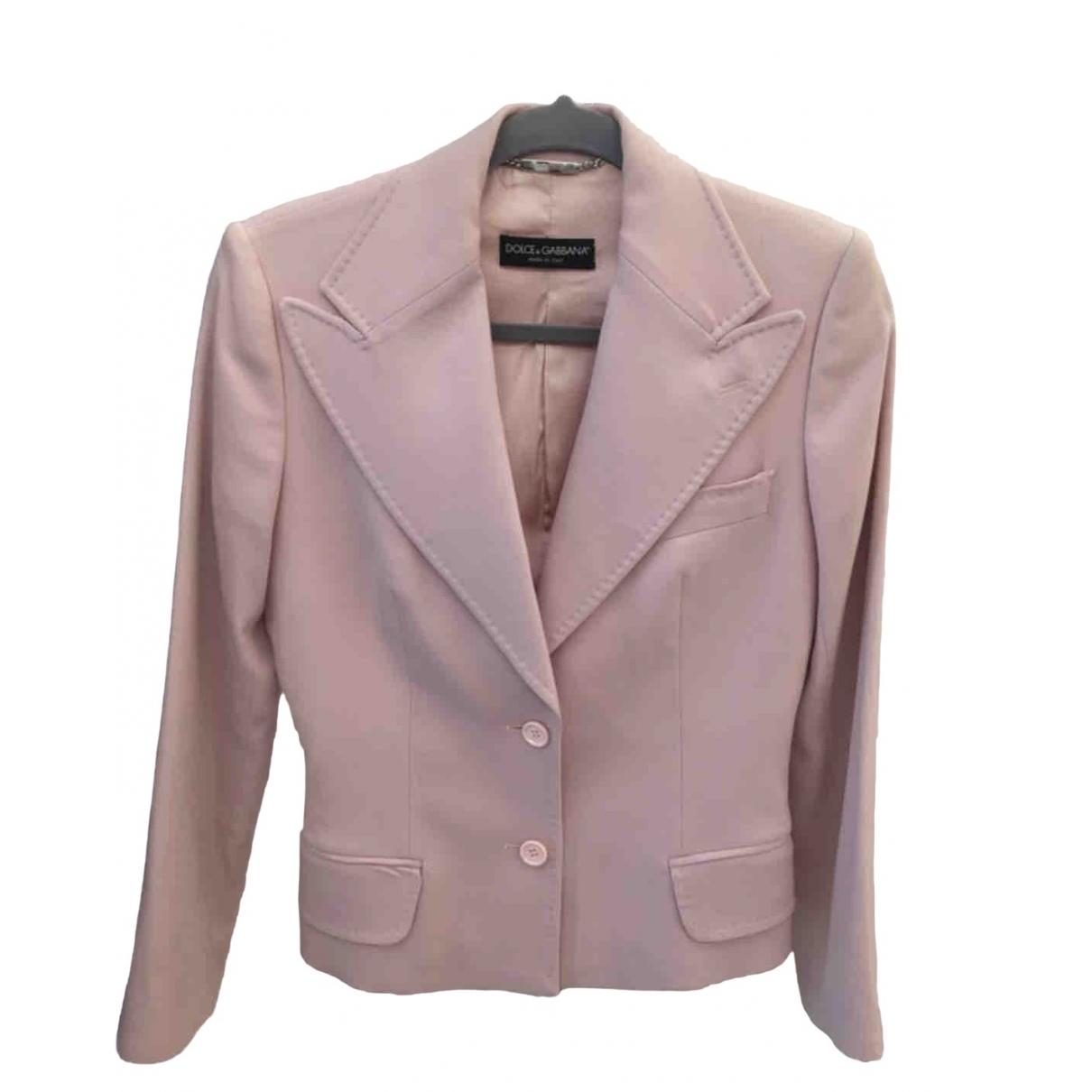 Dolce & Gabbana \N Jacke in  Rosa Wolle