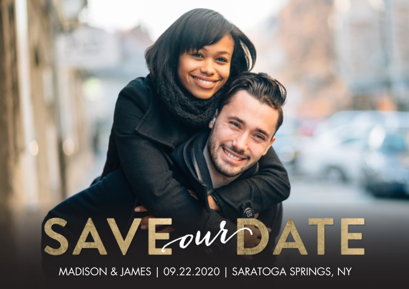 Save the Date 5x7 Cards, Standard Cardstock 85lb, Card & Stationery -Save the Date Block