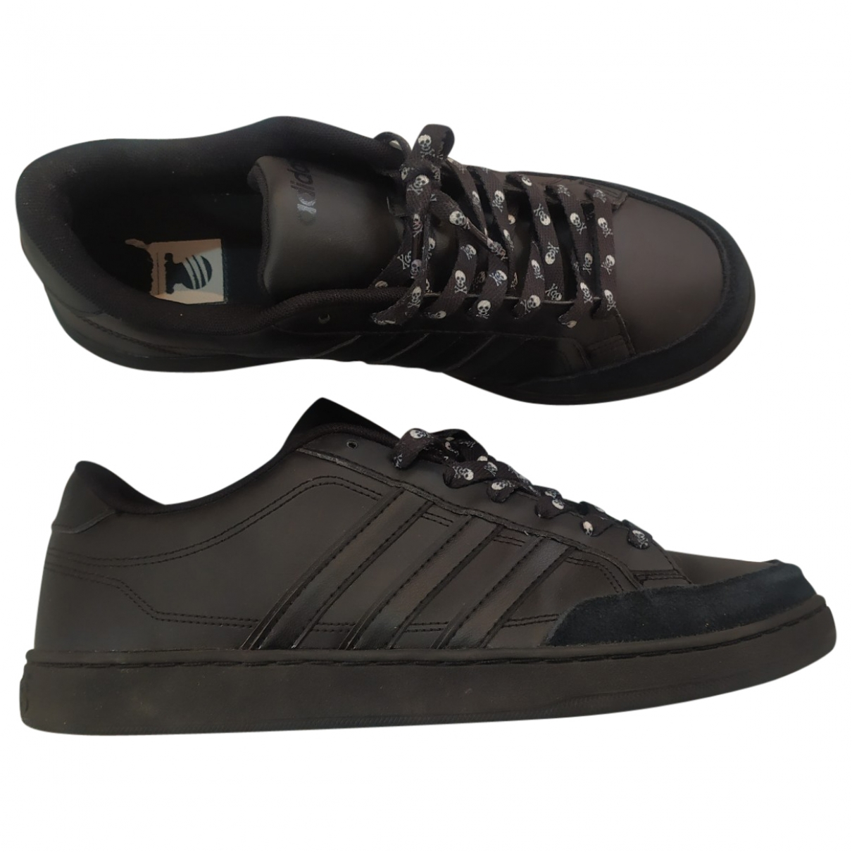 Adidas \N Black Leather Trainers for Men 43.5 EU