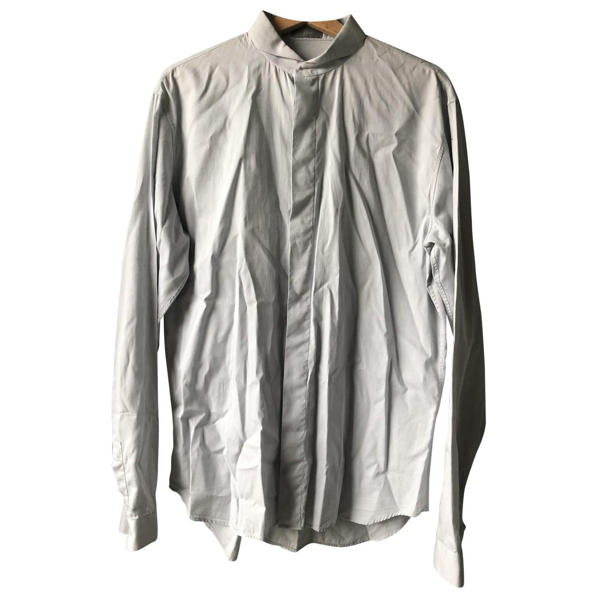 Dior Homme \N Grey Cotton Shirts for Men L International