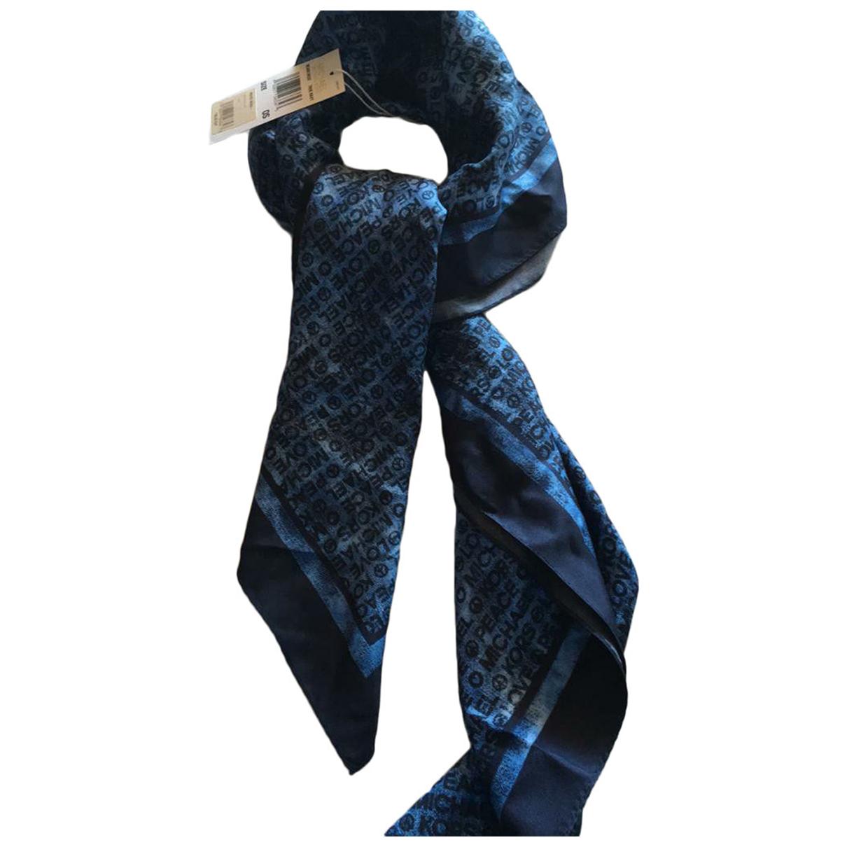 Michael Kors \N Schal in  Blau Seide