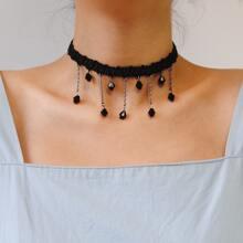 Halsband mit Quasten Dekor