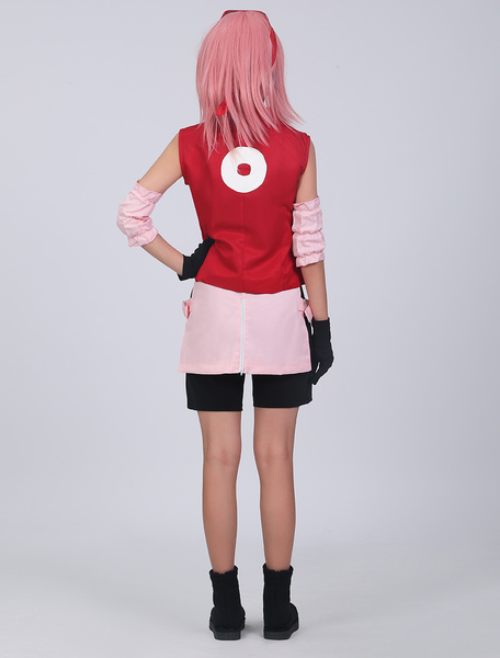 Milanoo Naruto Shippuden Haruno Sakura Cosplay Costume Halloween