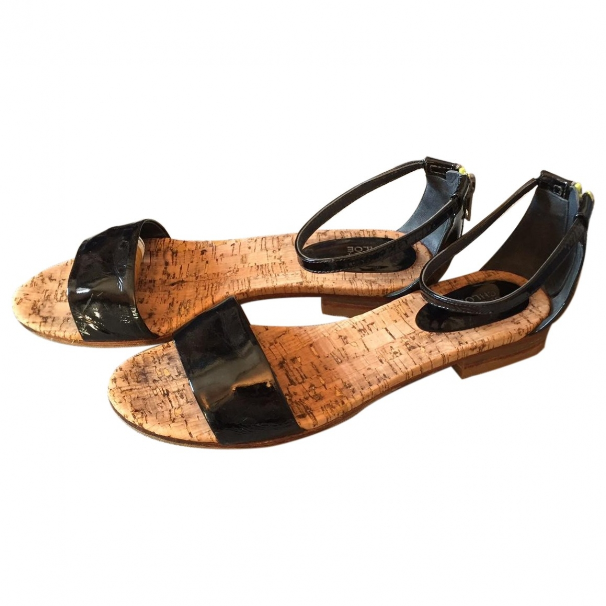 See By Chloé \N Black Patent leather Sandals for Women 39 EU