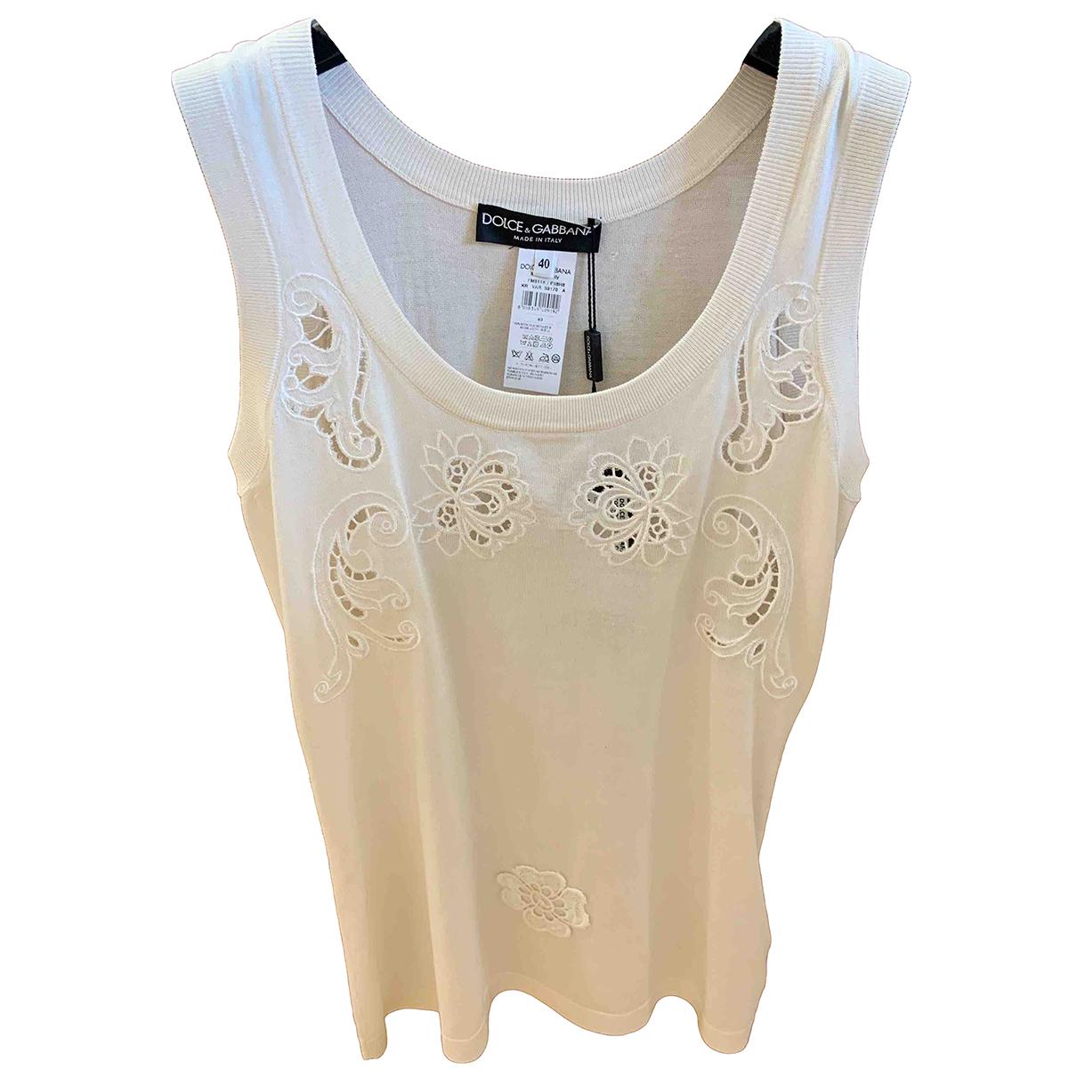 Dolce & Gabbana N Beige Silk  top for Women 40 IT
