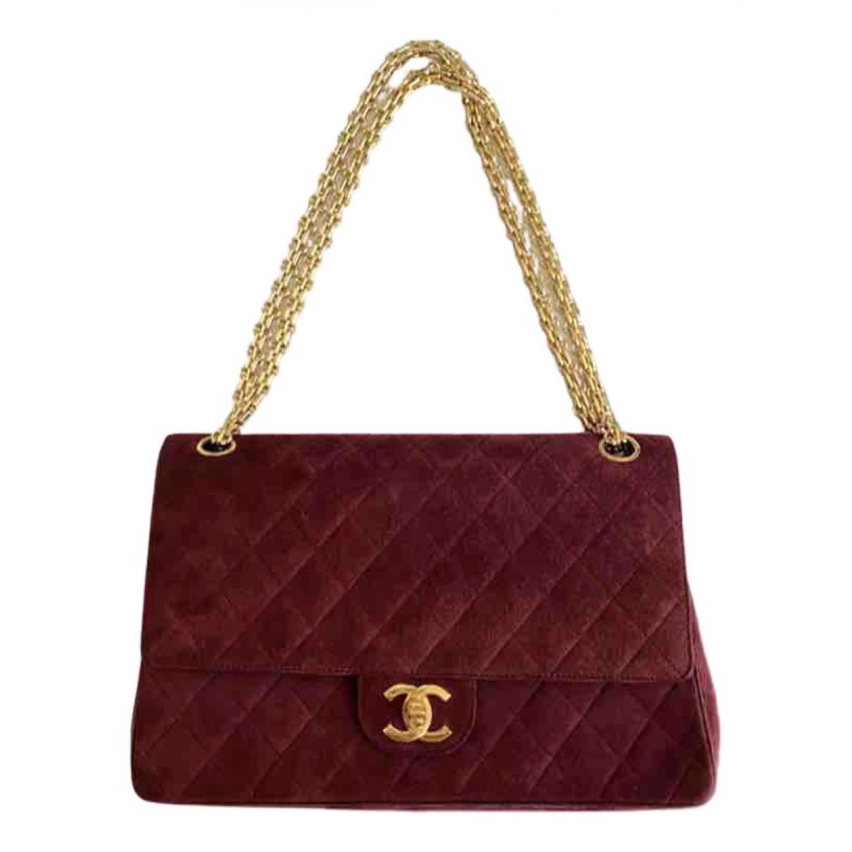 Chanel - Sac a main Timeless/Classique pour femme en suede - rouge
