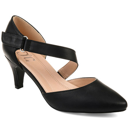 Journee Collection Womens Tillis Heeled Sandals, 7 1/2 Medium, Black