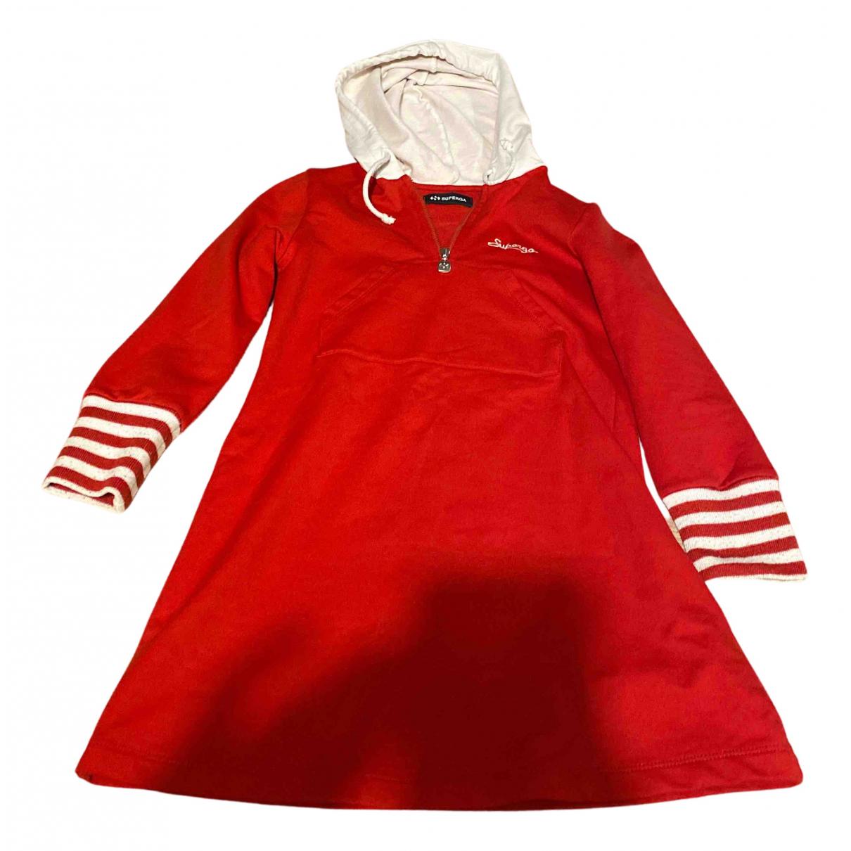 Superga \N Kleid in  Rot Baumwolle
