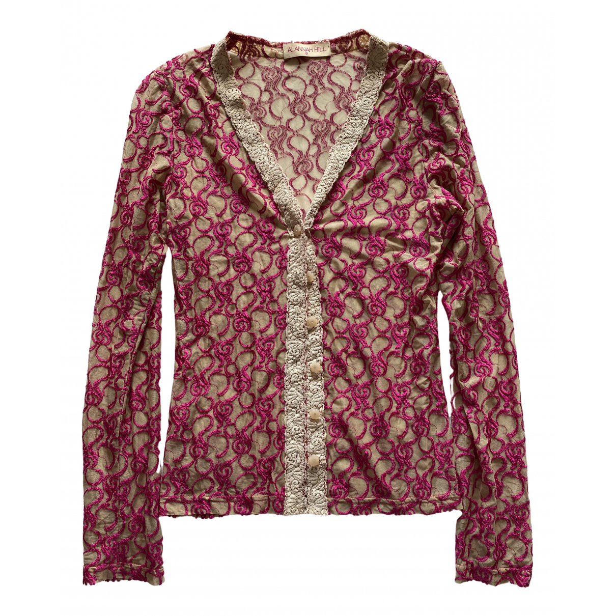 Alannah Hill - Top   pour femme en soie - beige