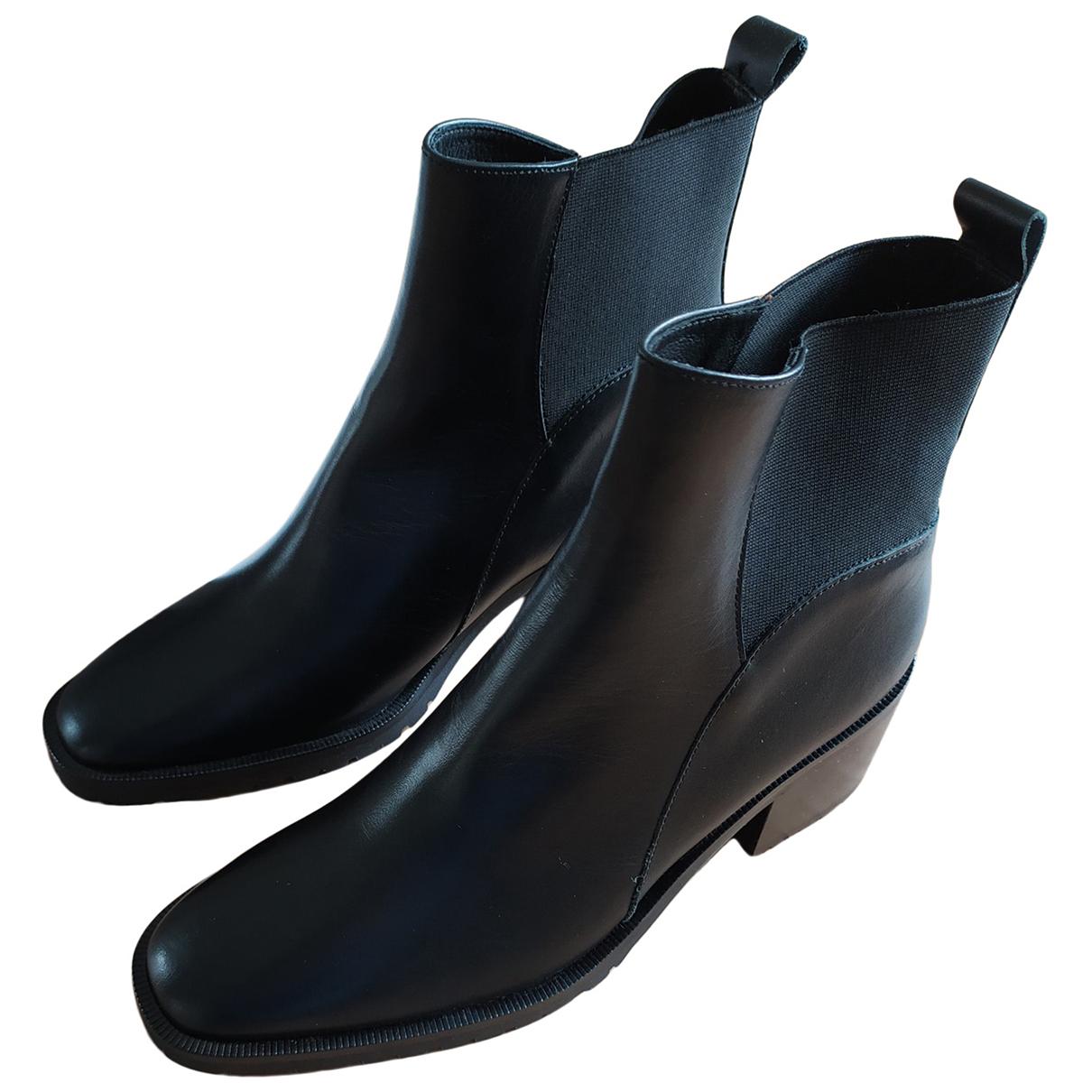 Comptoir Des Cotonniers - Boots   pour femme en cuir - noir