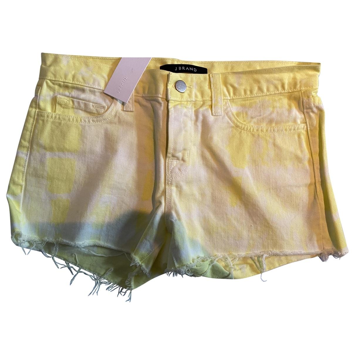 J Brand \N Yellow Cloth Shorts for Women 34 FR