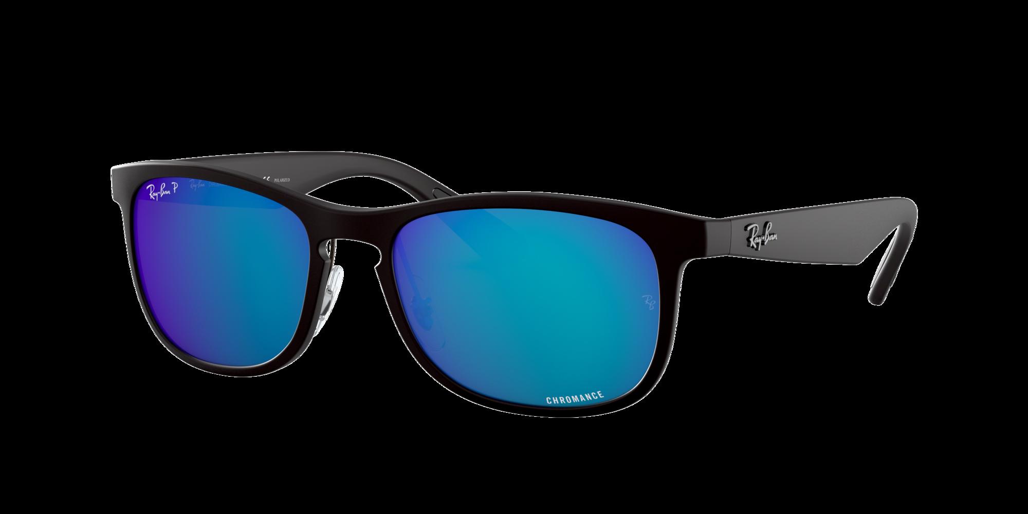 Ray Ban Man  RB4263 Chromance -  Frame color: Black, Lens color: Blue Mirror, Size 55-18/145