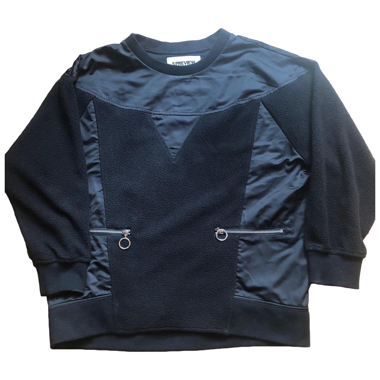 5 Preview - Pull   pour femme en coton - noir