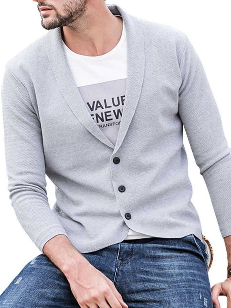 Ericdress Standard Plain Men's Slim Casual Sweater