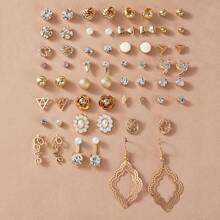 Ohrringe mit Blume & Schleife Design 30 Paare
