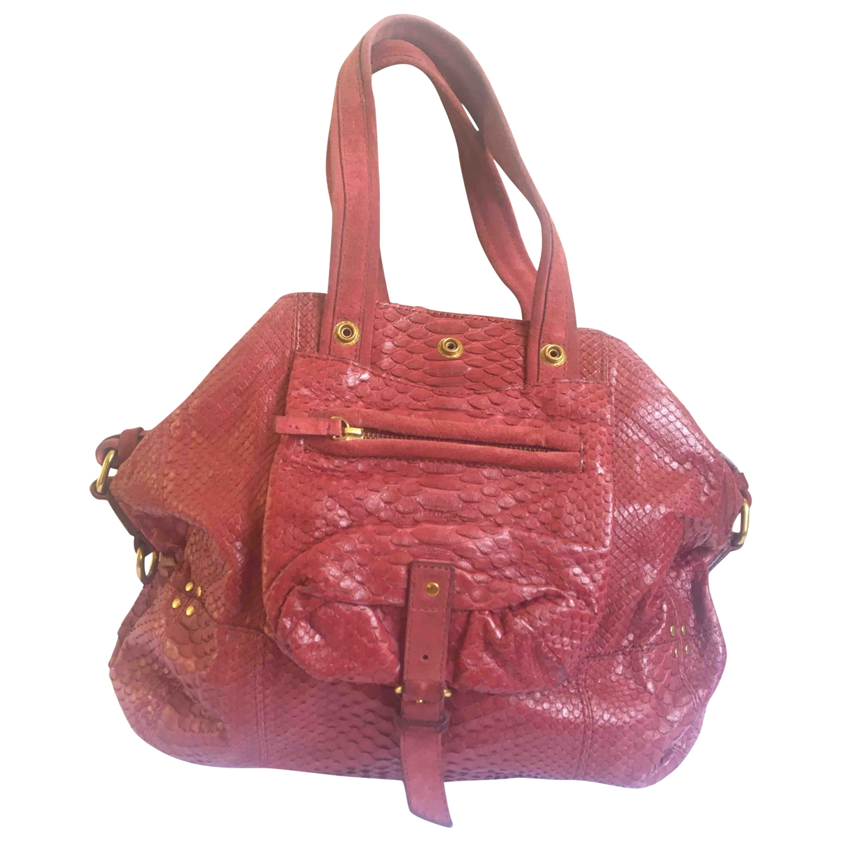 Jerome Dreyfuss Billy Burgundy Exotic leathers handbag for Women \N