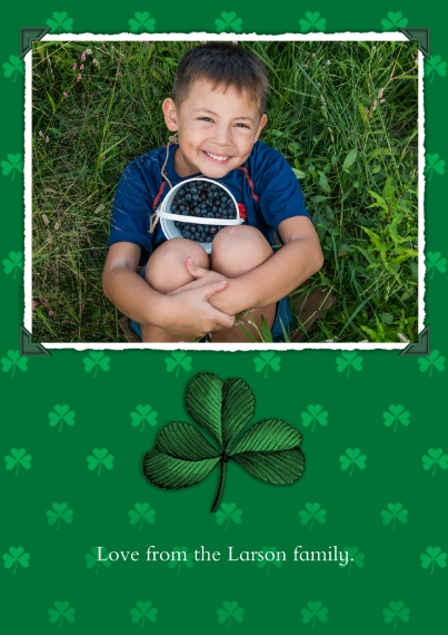 St. Patrick's Day Cards 5x7 Cards, Premium Cardstock 120lb, Card & Stationery -Charming Shamrocks