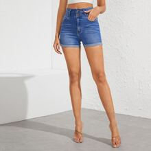 Schmale Jeans Shorts