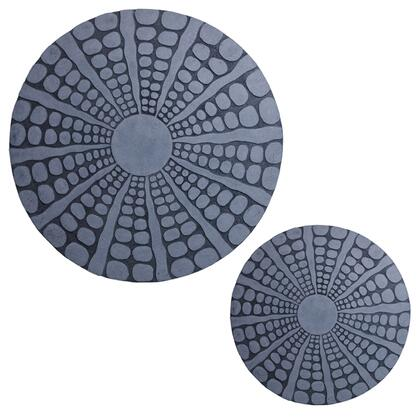 BM26634 Round Sandstone Wall Decor with Stardust Pebble  Large