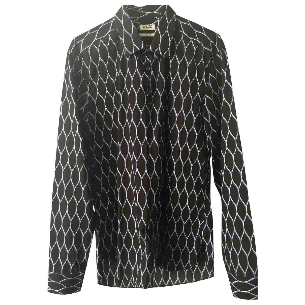 Kenzo \N Black Cotton Shirts for Men 40 EU (tour de cou / collar)
