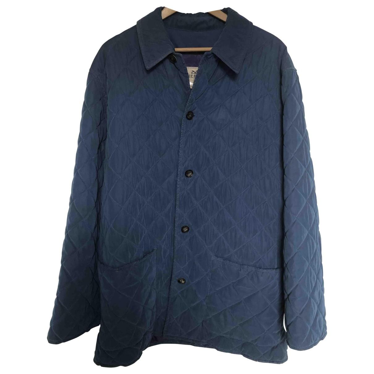 Hermes \N Jacke in  Blau Polyester