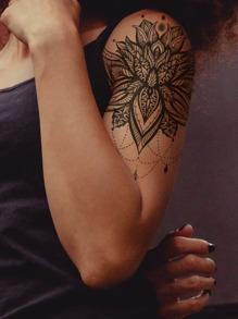 1sheet Lace Flower Pattern Tattoo Sticker