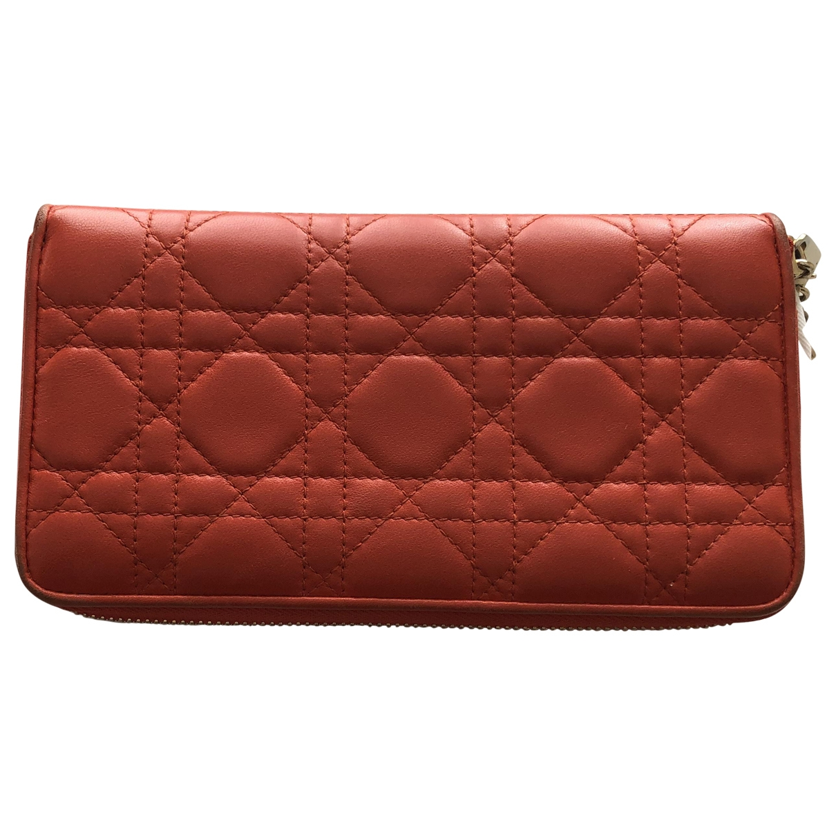 Dior \N Orange Leather Purses, wallet & cases for Women \N