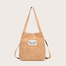 Ribbed Corduroy Shoulder Bag