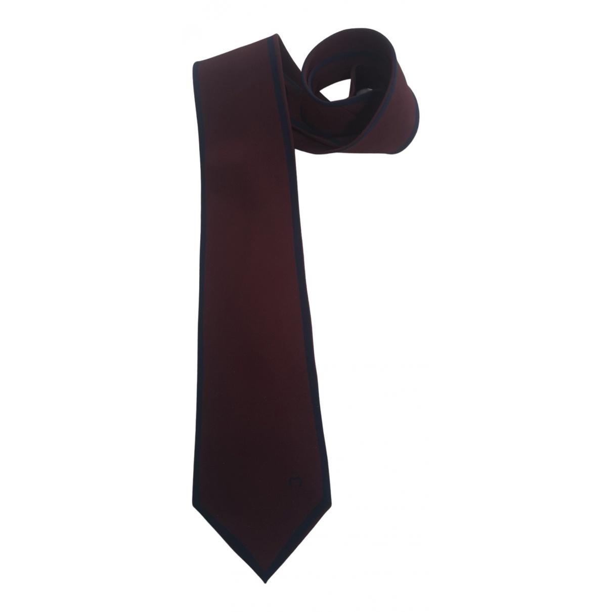 Mila Schon Concept \N Krawatten in  Bordeauxrot Seide
