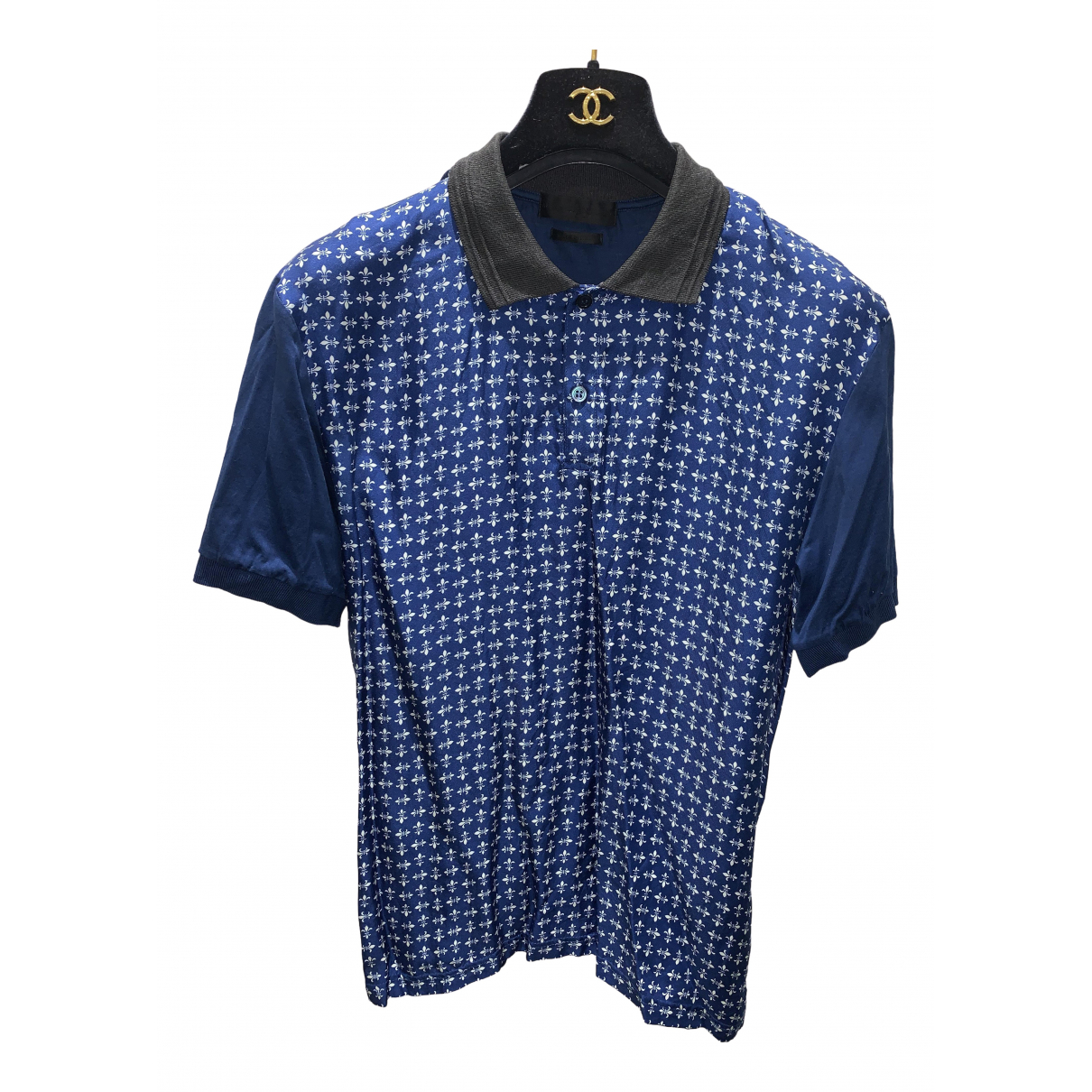 Alexander Mcqueen - Polos   pour homme en soie - bleu