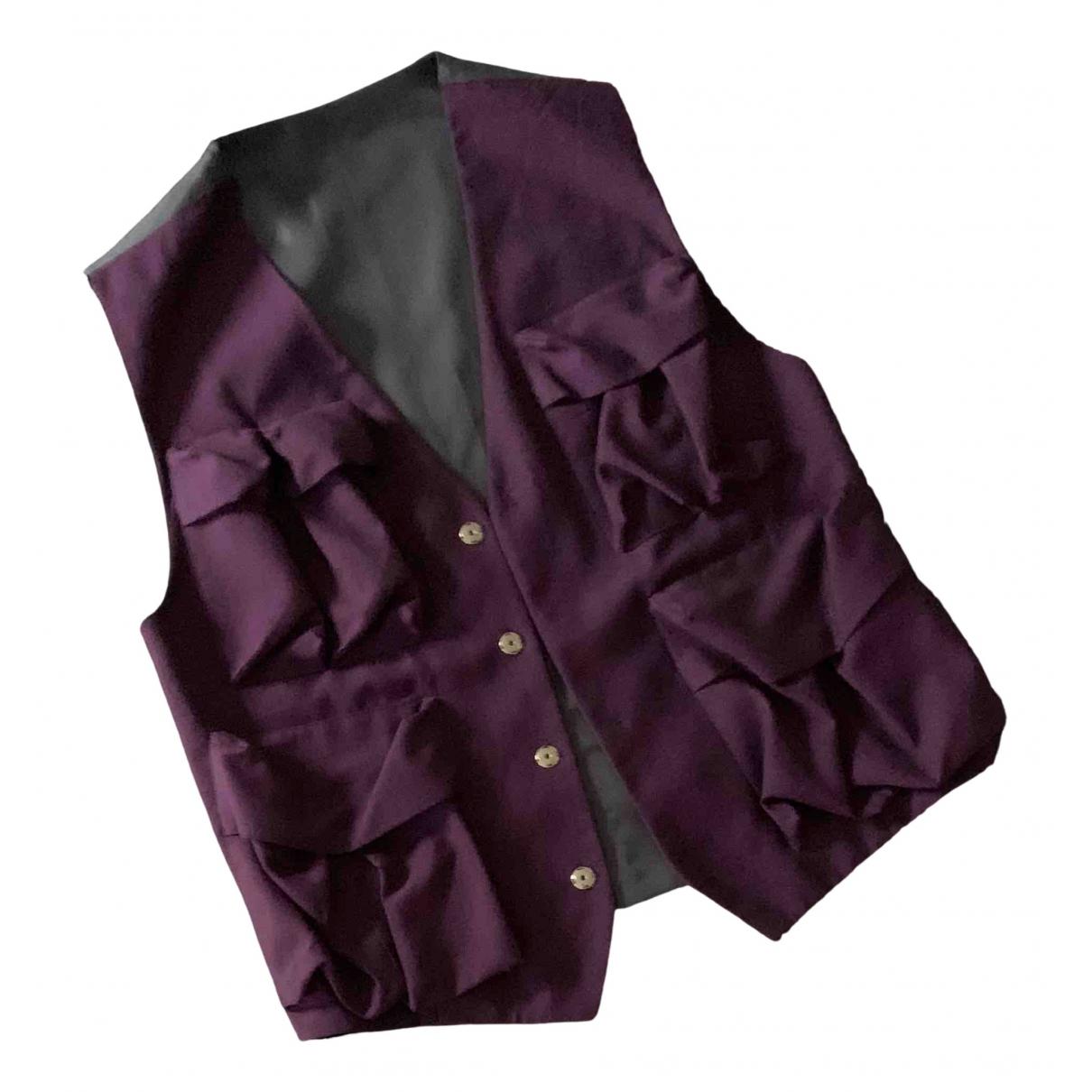 Versace - Pulls.Gilets.Sweats   pour homme en soie - bordeaux