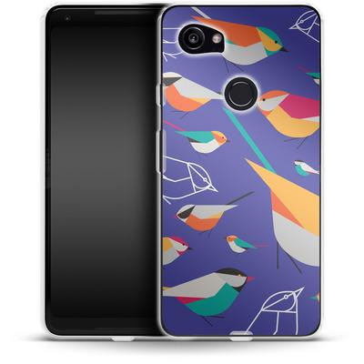 Google Pixel 2 XL Silikon Handyhuelle - Birds Talk von Susana Paz