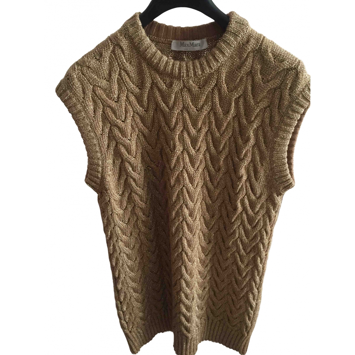 Max Mara \N Pullover in  Gold Wolle