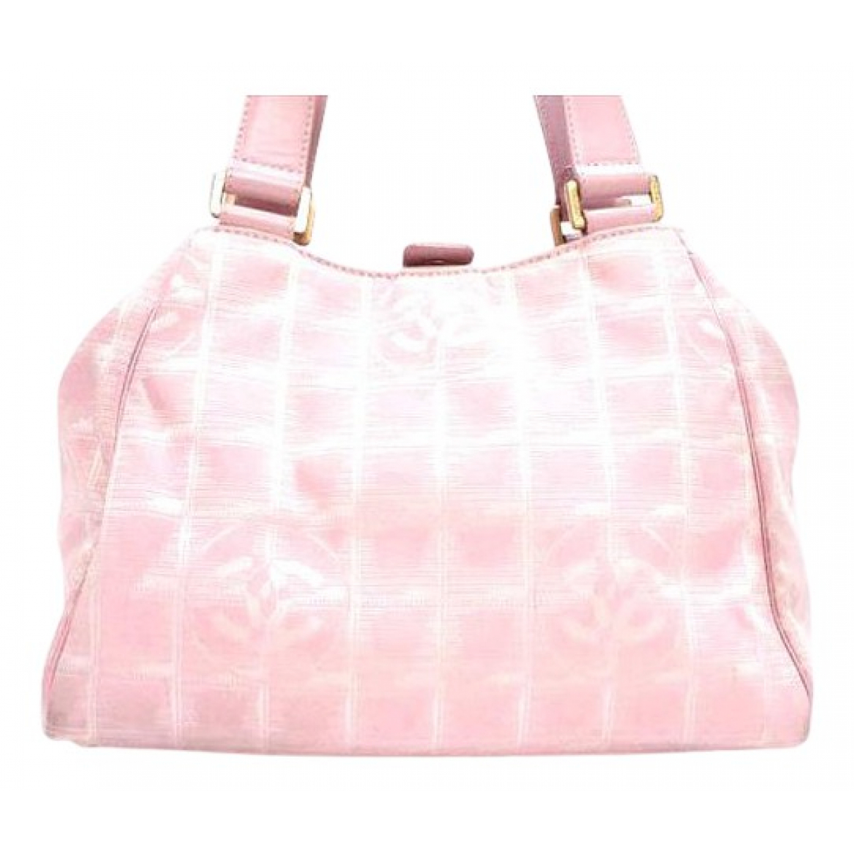 Chanel \N Handtasche in  Rosa Leinen
