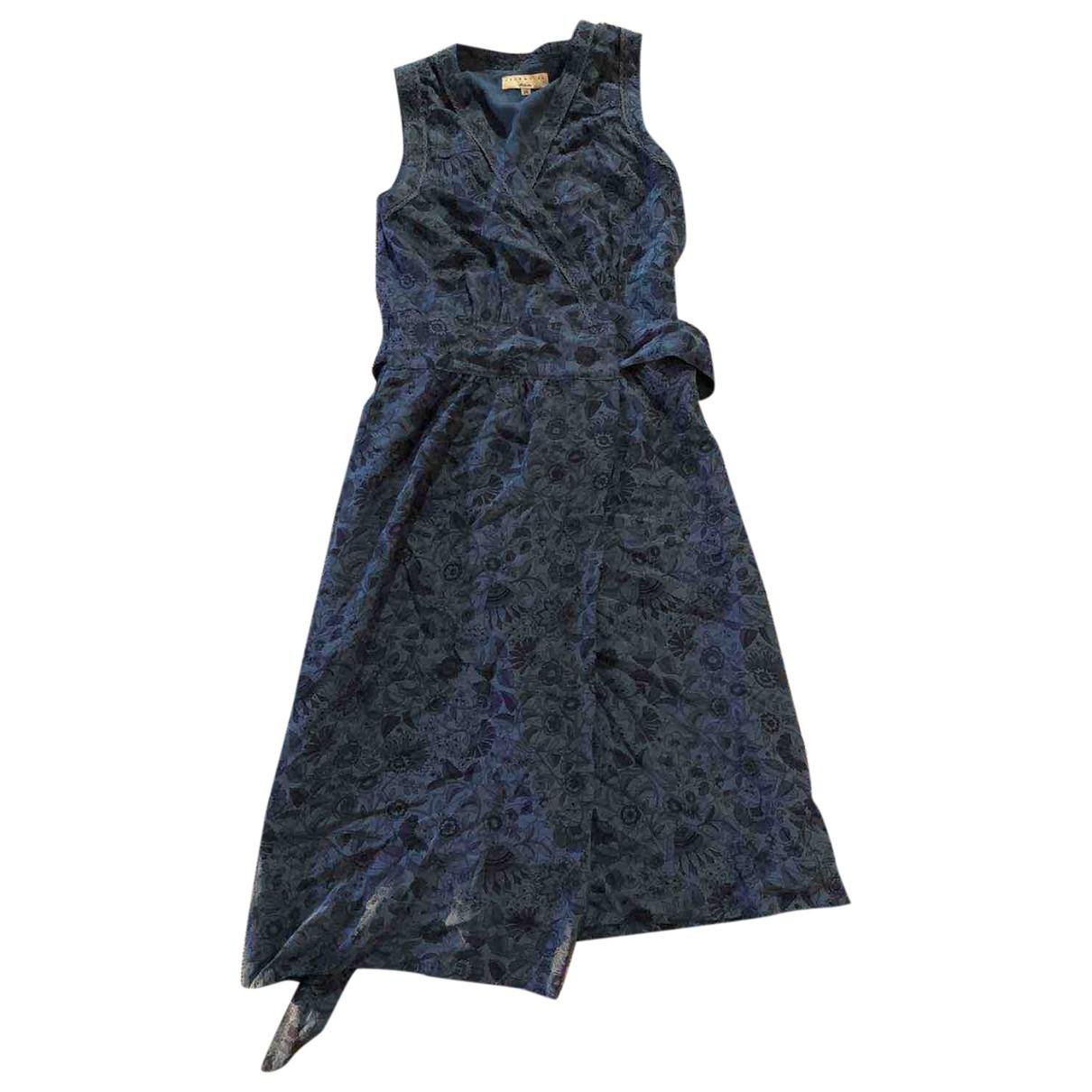 Essentiel Antwerp \N Kleid in  Blau Seide
