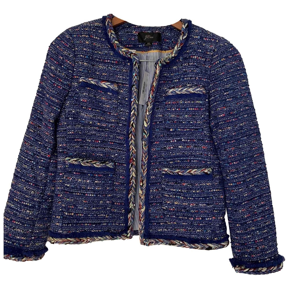 J.crew - Veste   pour femme en tweed - bleu