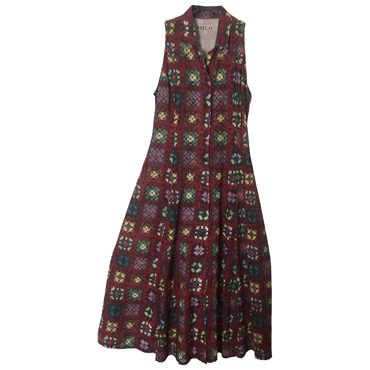 Replay \N Brown Cotton dress for Women 44 IT