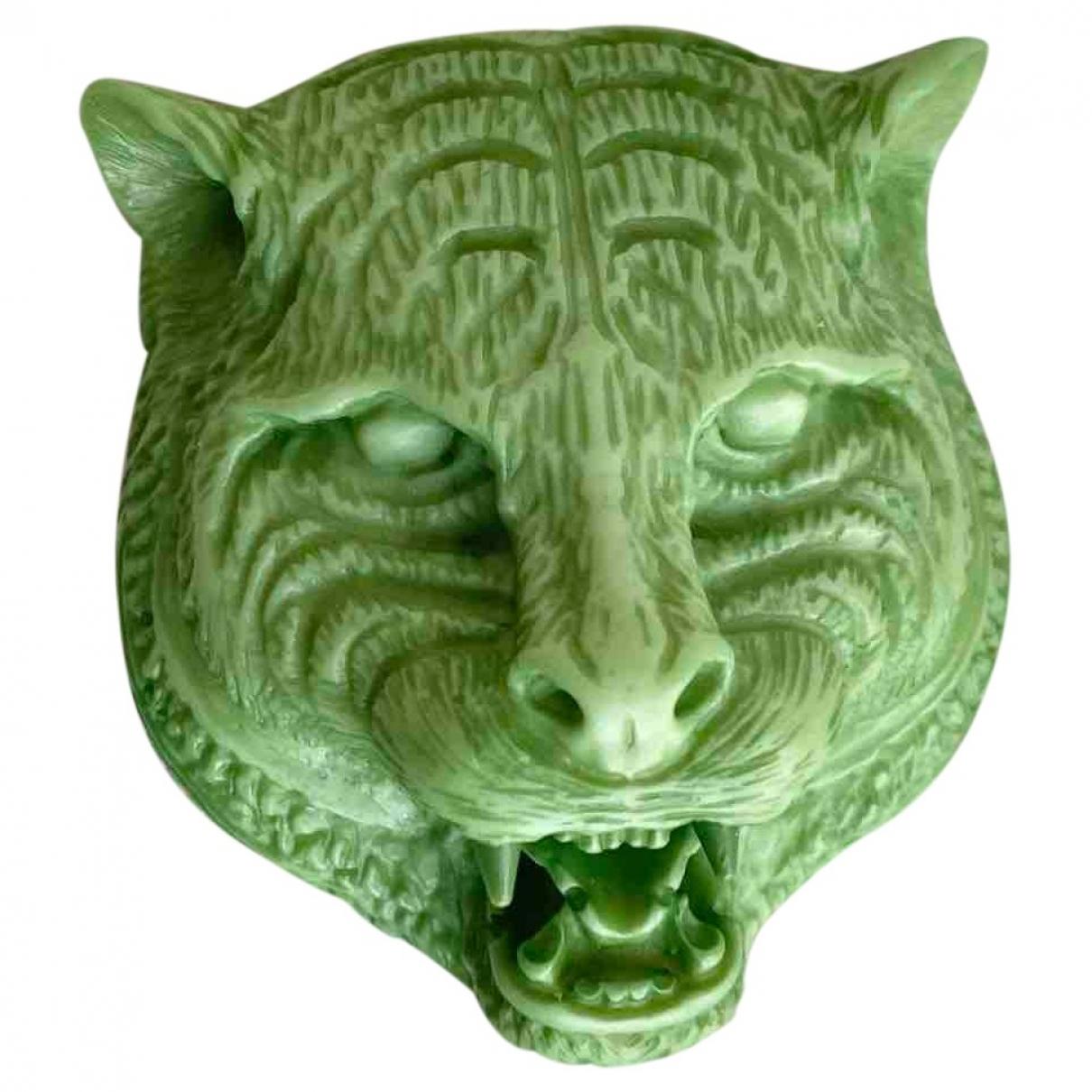 Broche en Plastico Verde Gucci
