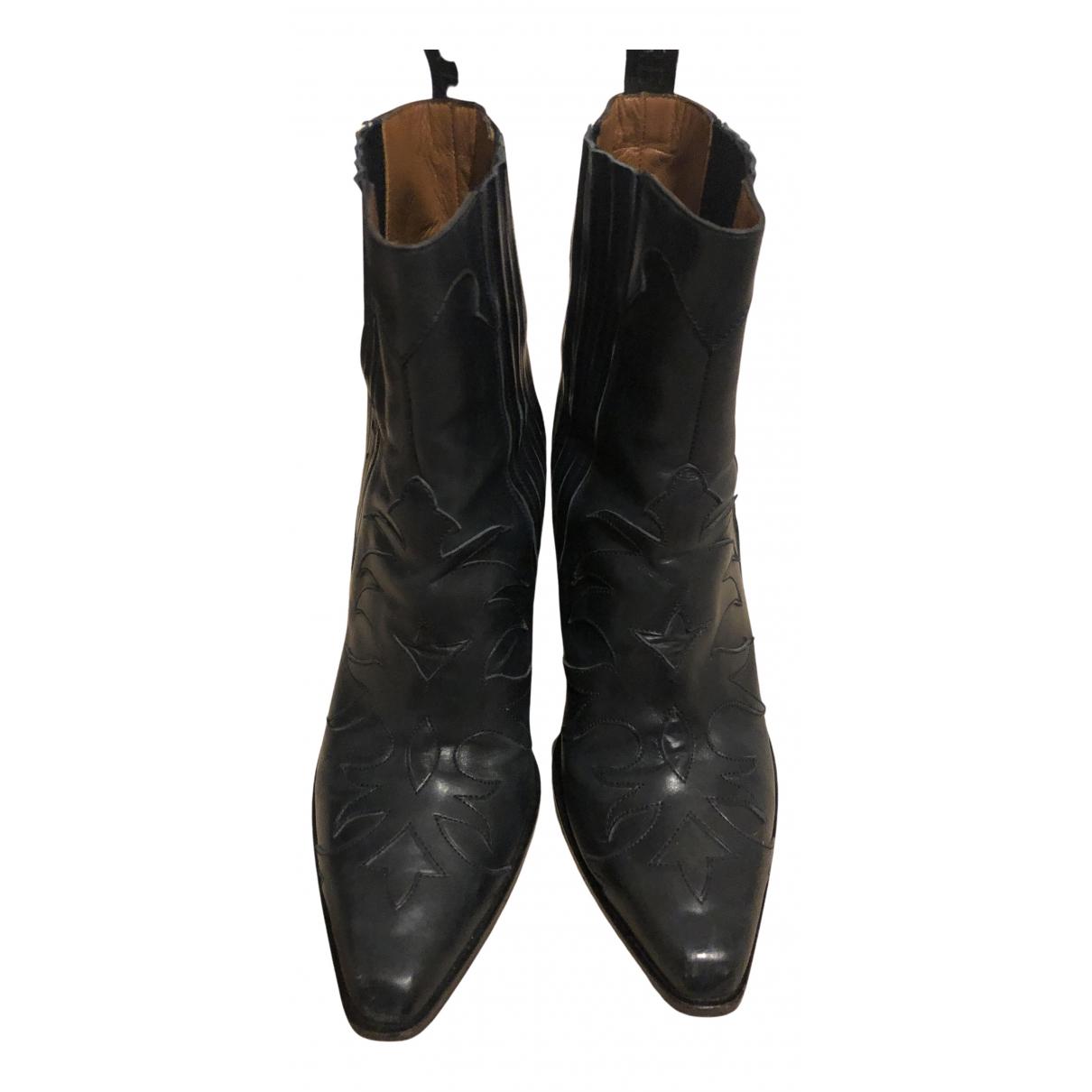 Sartore - Boots   pour femme en cuir verni - bleu