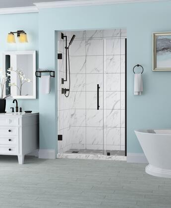 SDR965EZ-ORB-4725-10 Belmore 46.25 To 47.25 X 72 Frameless Hinged Shower Door In Oil Rubbed