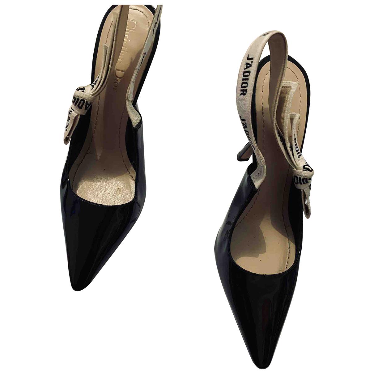 Dior - Escarpins Jadior pour femme en cuir verni - noir