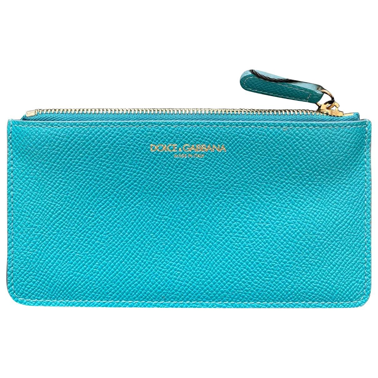 Dolce & Gabbana - Petite maroquinerie   pour femme en cuir - bleu